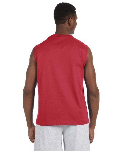 Sleeveless T-shirt Adult Jerzees (Jerzees 5 Oz. HiDENSI-T Sleeveless T-Shirt, Small, True Red)