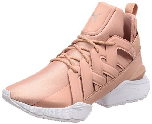 Peach Echo Women's en Puma Beige Pointe White Satin Muse Xwaqg5Yp