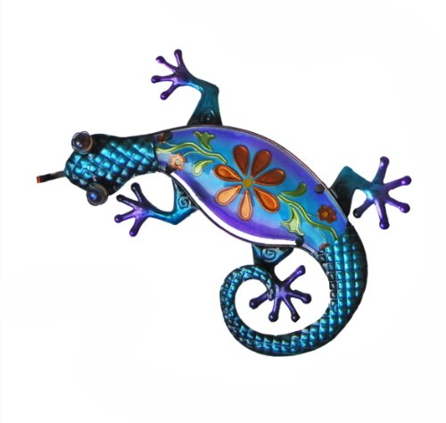 Continental Art Center CAC10389C Lizard with Painted Glas...
