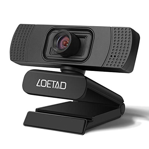 LOETAD Webcam 1080P for Desktop HD Web Camera with Noise Reduction Microphone for Laptop