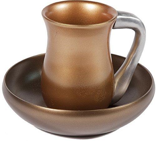 Mayim-Achronim-Jewish-Hand-Washing-Set-Yair-Emanuel-Judaica-ANODIZE-ALUMINUM-MAYIM-ACHRONIM-AND-A-BOWL-GOLD-Bundle