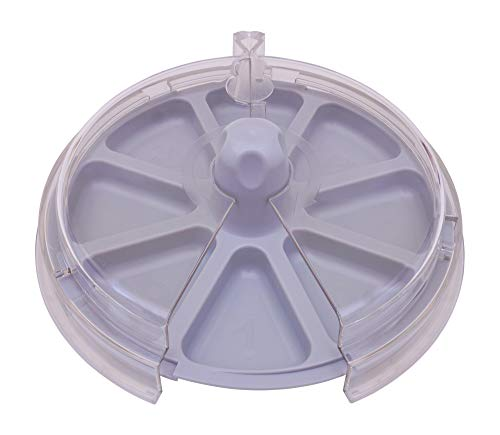 8 the Plate for Picky Eaters Spins inside Clear Cover to Promote Healthy Eating Habits - Gray Grace by 8_the_Plate