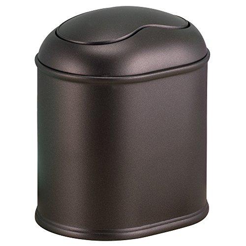 InterDesign York Vanity Countertop Wastebasket Trash Can, Bronze (Small Trash Can Bathroom compare prices)