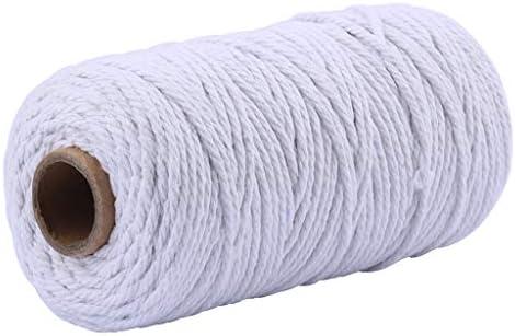FiedFikt Cordón de algodón macramé colorido cordón de algodón Munfunction para tejer marcos,hilo de ganchillo,artesanos y amante de la artesanía,3.5MM*100M: Amazon.es: Hogar