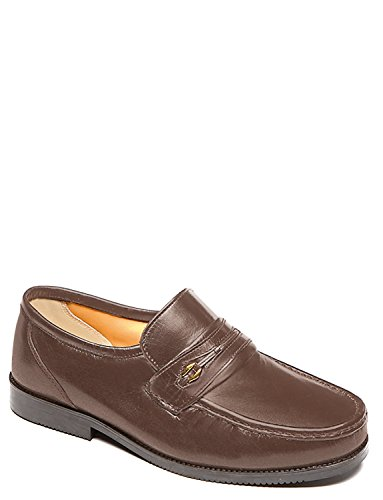 Chums Wide Fit Leather Slip On Shoe Brown with paypal cheap price Dxil9h