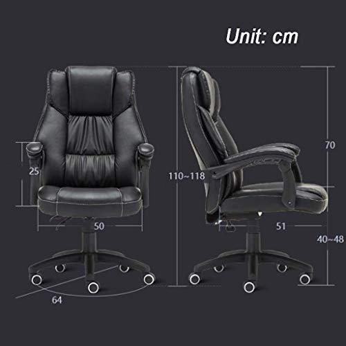 SSNG kontorsstol skrivbordsstol, högrygg skrivbordsstol med ländrygg stöd, hållbar och stabil, justerbar höjd, ergonomisk, för vardagsrum konferensrum