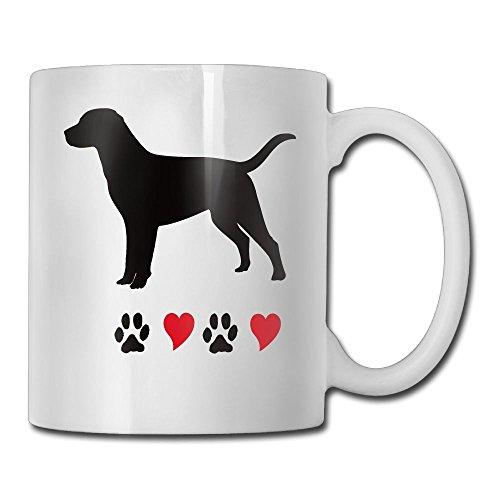 Black Labrador Porcelain - I Love My Black Labrador Retriever Fashion Coffee Cup Porcelain Mugs