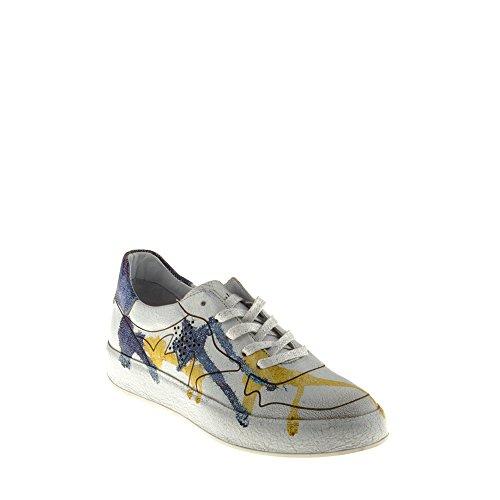 Baskets Amour Trump Chaussures Femme B009 Multicolore Tomber Avec Véritable Yellow Blue en Felmini Cuir nwg1Bqx68g