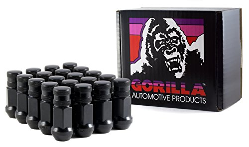Gorilla Automotive 45128BC-20 Black 12mm x 1.25 Thread Size Forged Steel Chrome Finish Closed End Lug Nut, (Pack of 20) (Special Ends Closed)