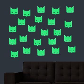 Fantastic Amazon Com 24 Pcs Batman Decals Grow In The Dark Stickers Evergreenethics Interior Chair Design Evergreenethicsorg