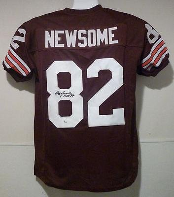 ... Away White - JSA Certified - Autographed NFL Jerseys ... youth nike  cleveland browns 82 game orange alternate nfl jersey ozzie newsome OZZIE  NEWSOME ... 173f95c63