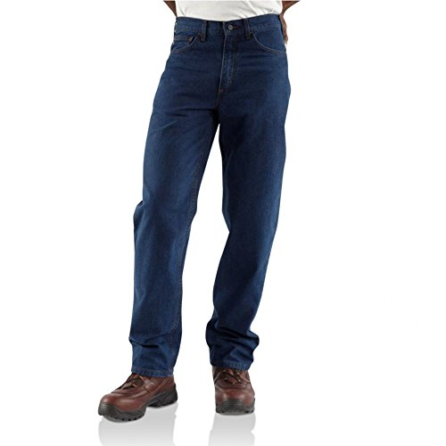 11.75 Ounce Cotton Denim (Carhartt Relaxed Fit Straight Leg Jeans, Denim, 36W x 30L)
