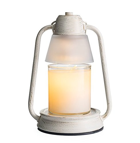 CANDLE WARMERS ETC Beacon Candle Warmer Lantern for Top-Down Candle Melting, Brushed Champagne