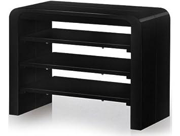 Table Console Extensible Noir Laqué Avec Rangement Zelda 3