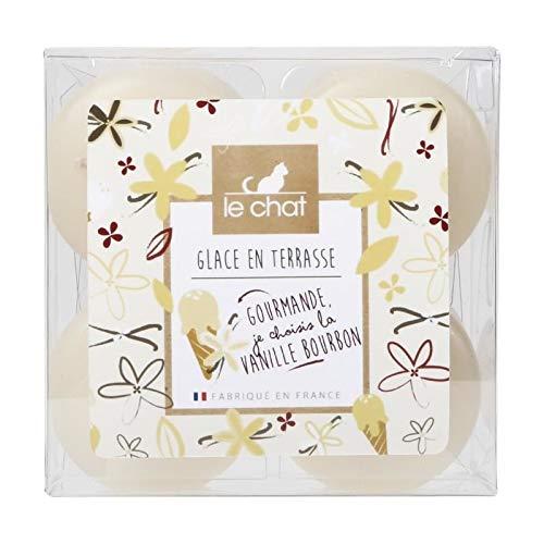 /marfil//vainilla Le Chat 01236710/Juego de 4/velas colores /& perfumadas TP PM hielo en terraza/