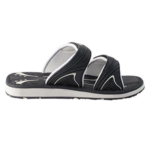 Zapatos De La Paloma De Oro Gp6888 Deslizadores De La Sandalia Del Tobogán Acuático Al Aire Libre Ajustable Ajustable Para Hombres Mujeres Niños (tamaño: T10 Y Más) 7559 Negro