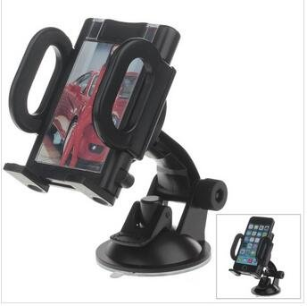 "T-Carbon 180 Degree Rotation Suction Cup Holder W/ C38 4.3~5.5"" Back Clip Bracket -Black"