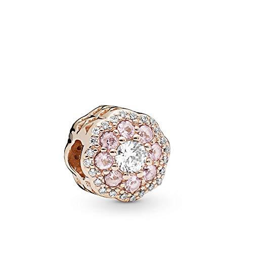 PANDORA Pink Sparkle Flower PANDORA Rose Charm - 787851NPM ()