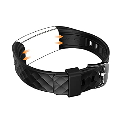Toprime Adjustable Replacement Wristband for Fitness Tracker S2, Black
