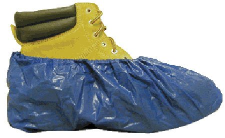 Waterproof Shubee Blue Shoe Covers-50 pair per Box Fresh