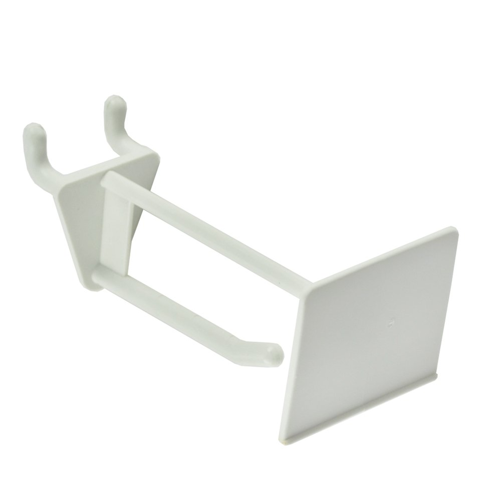White Azar 800012-WHT 2-Inch Glass-Filled Nylon Pegboard Scan Hook 50-Pack