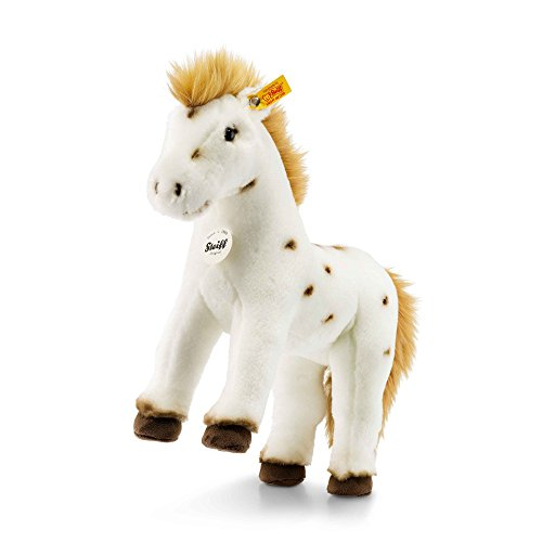 Steiff 071287 Spotty Horse Plush Animal Toy, White/Brown