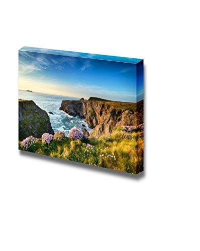 Beautiful Scenery Landscape the Southwest Coast Path near Longcarrow Cove in Cornwall Wall Decor ation