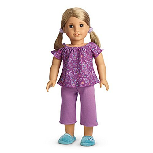 American Girl My AG Purple Peacock PJS Pajamas for Dolls + Charm (Charms Girl Doll American)