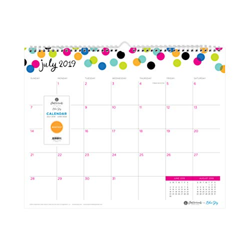 - Ampersand for Blue Sky 2019-2020 Academic Year Monthly Wall Calendar, Twin-Wire Binding, 15