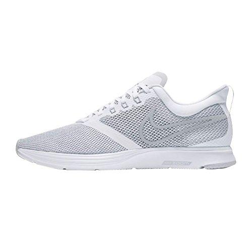 Nike Zoom Strike Mens Scarpe Da Corsa Bianco / Grigio Lupo