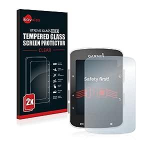 savvies Cristal Templado Compatible con Garmin Edge 820 (2 Unidades) Protector Pantalla Vidrio Proteccion 9H Pelicula Anti-Huellas: Amazon.es: Electrónica