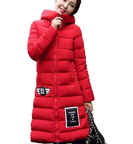 Acolchado Moda Abrigo Elegantes Mode Marca Outdoor Encapuchado Espesar Anchas Grau Manga Larga Parkas Invierno Caliente Pluma Largos Casuales De Mujer Plumas dWpr74WOF