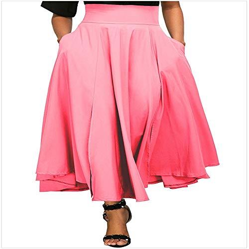 Pink Jupe Parachute Jupe TDPYT Glissire Haute Taille Type A Demi De agqqARxPwT