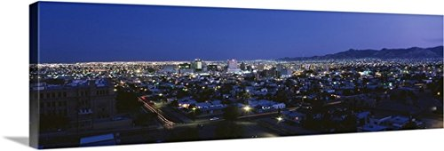 Canvas On Demand Premium Thick-Wrap Canvas Wall Art Print entitled El Paso TX - Paso Vista El Tx