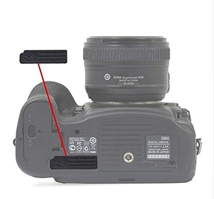 Replacement Camera Back Cover Bottom Rubber Cover Cap For Nikon D800 D810  D800E Camera Terminal Cover Rubber Cap Lid (D800)