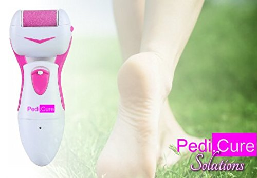 Electric Callus Remover by Pedi.Cure, HOLIDAY SALE! Best Quality Battery Operated Foot File/Pedicure Tool, Professional Foot Scrubber, Smooth Rough, Dry Feet, Dead Skin, Satisfaction Guaranteed by Pedi.Cure Solutions