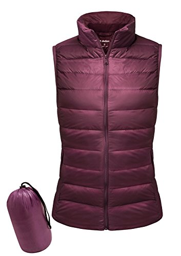 Yidarton Women Down Vest Packable Lightweight Outerwear Coat Jacket Puffer Vests(wi+s)