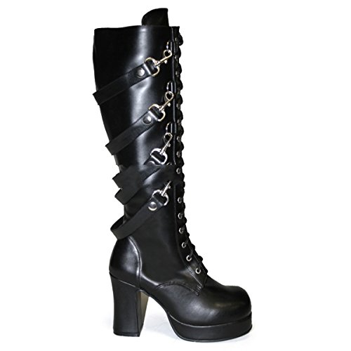 boots punk 3 punk 209 9 US 36 6 5 platform 3 industrial gothic Demonia shoes UK EU Gothika Size qw05XUWt