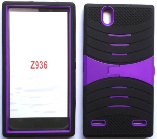 buy popular a3ac2 ad84f Amazon.com: uBLACK/PURPLE Phone Case Cover For ZTE Lever LTE / Z936L ...