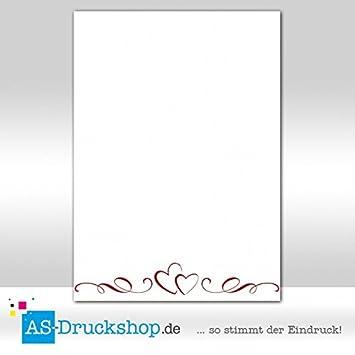 25 Sets Umschläge DIN A4 Liebe Papier Cremefarben mit Herz
