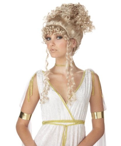 Athenian Dress (Athenian Goddess Blonde Wig Costume Accessory)