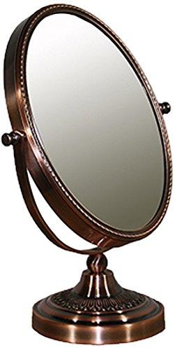 Ore International Copper Chrome Oval X3 Magnify Mirror, 12.25 Inch