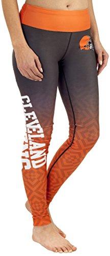 NFL Cleveland Browns Gradient Print Legging, Orange, X-Small