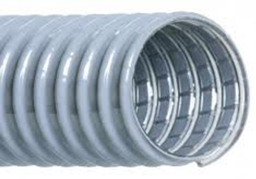 Hi-Tech Duravent Super Vac-U-Flex Series PVC Vacuum Duct Hose, Grey, 3'' ID, 3-1/2'' OD, 25' Length by Hi-Tech Duravent