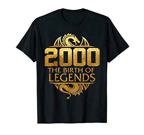 2000 The Birth Of Legends Gift For 19 Yrs Years Old 19th
