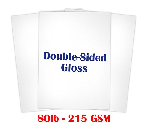 Double Sided Gloss Card stock Paper Size 8 1/2 X 11 - 50 Sheets Double Sided Gloss Paper