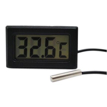 Termómetro digital LCD de -50 ° a + 110 ° medidor de temperatura del termómetro
