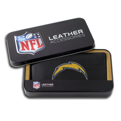 NFL San Diego Chargers Embroidered Genuine Cowhide Leather Checkbook Cover