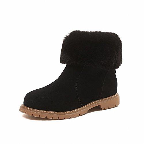 Las Botas de en Planos Botas Gruesos 5 Zapatos Zapatos EUR36 Nieve Cálidos Botas café Redondas Casuales Zapatos Botas z8xqv