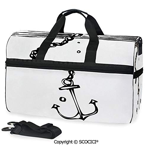 Travel Duffel Bag Anchor Sinking into the Ocean Personalized ()
